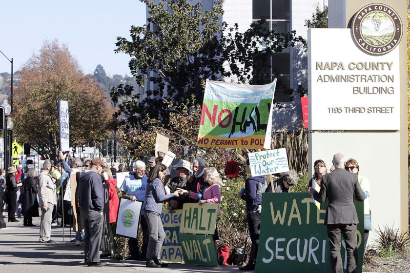 napa watershed protest